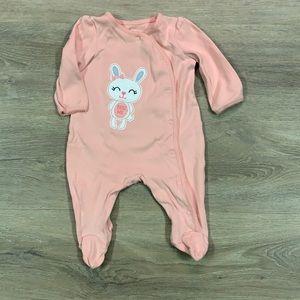 Baby girl button up onesie